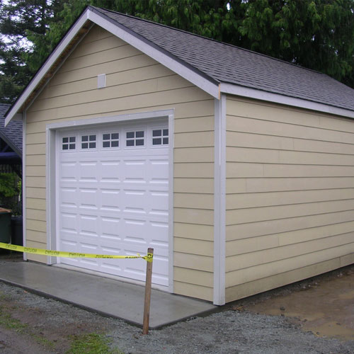 This Is A 16u0027 X 23u0027 X 9u0027 Traditional Garage Built In The City Of Seattle,  Two Feet From A Side Property Line, So We Have A One Hour Firewall On The  Left ...